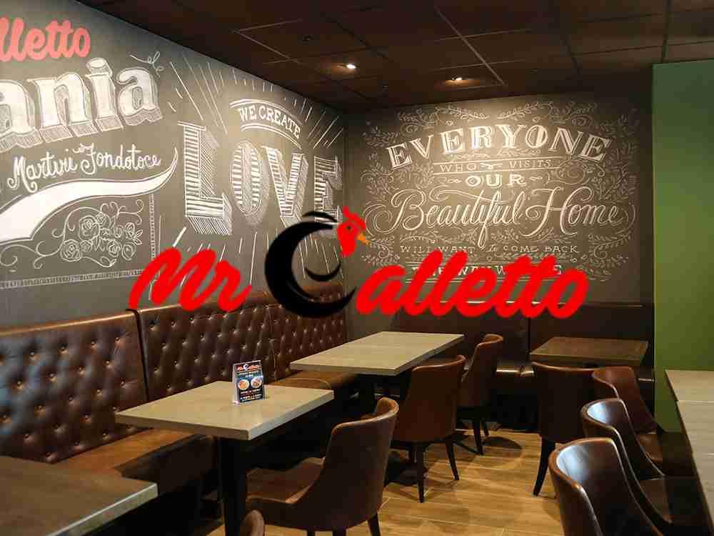 Progettazione e allestimento Mr Galletto negozio e ristorante verbania cst contract