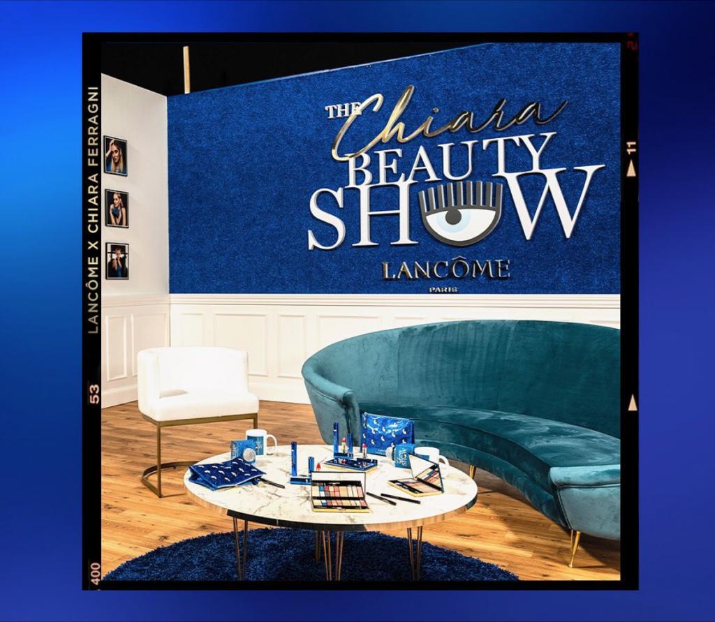 allestimento set scenografia evento live the chiara beauty show lancome chiara ferragni cst group italia