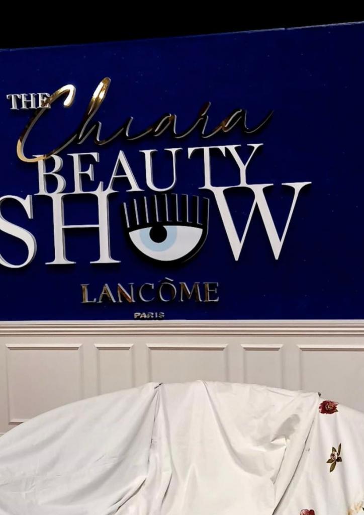 allestimento set scenografia evento live the chiara beauty show lancome chiara ferragni cst group italia 5