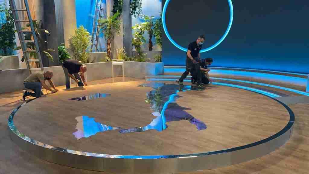 scenografia tv l'italia che fa rai 2 cst group italia 3