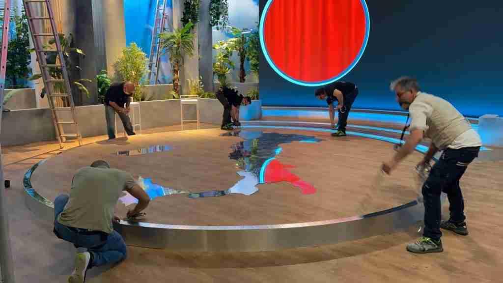 scenografia tv l'italia che fa rai 2 cst group italia 4