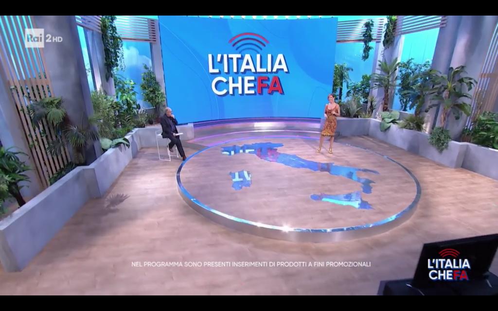 scenografia tv l'italia che fa rai 2 cst group italia 5